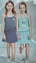 Набір стильних бавовняних сарафанів, плаття 2 шт від alive, німеччина, розмір 140 см