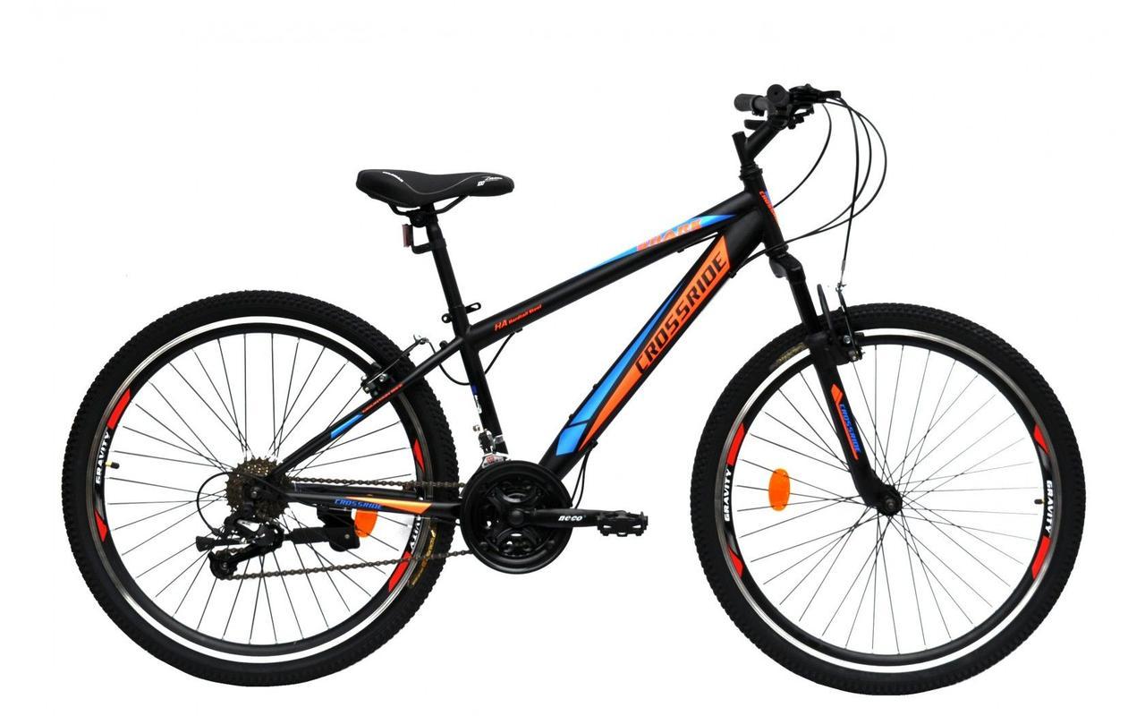 """Велосипед Crossride 26"""" Shark 17"""" черно-оранжевый"""