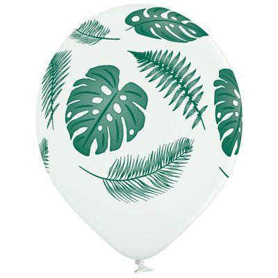 Латексные шары Belbal пастель Листья тропические  30 см, 5 шт