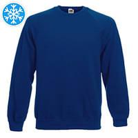 Утепленная мужская толстовка (реглан) темно-синего цвета