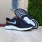 Чоловічі кросівки в стилі NIKE Zoom AIR чорні з помаранчевим, фото 6