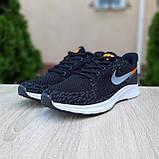 Чоловічі кросівки в стилі NIKE Zoom AIR чорні з помаранчевим, фото 7