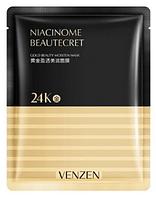Тканинна маска для обличчя VENZEN NIACINOME BEAUTECRET 24К GOLD BEAUTY MOISTEN MASK
