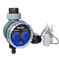 Автоматический таймер полива, подачи воды с шаровым клапаном Aqualin YL21025 и датчиком дождя 21103