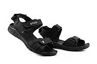 Мужские сандали кожаные летние черные Yuves 411, фото 1