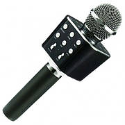 Портативный  Bluetooth микрофон Караоке WSTER 1688 Черный Розовый