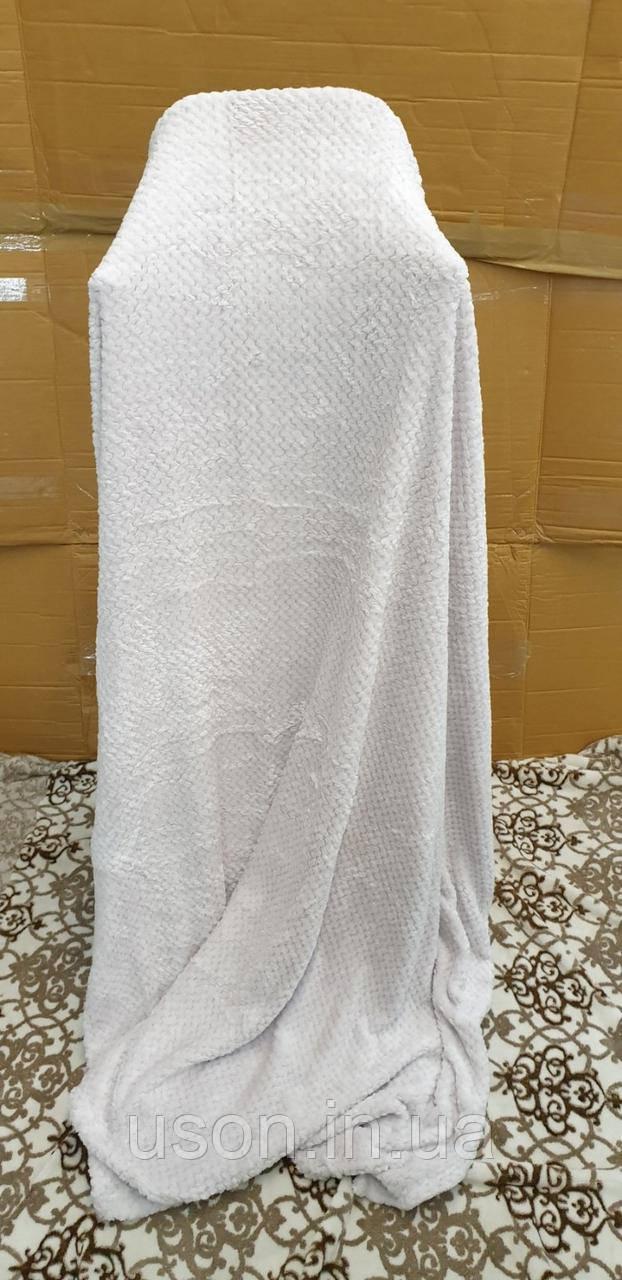 Плед покрывало бамбуковое (микрофибра) Тм Koloko кремовый