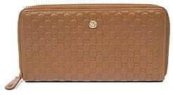 Элитный женский кожаный кошелек барсетка высокого качества art. G-7025M коричневый