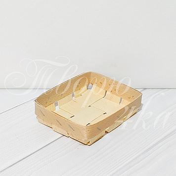 Корзинка прямоугольная из букового шпона 100*80*25 мм