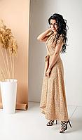 Элегантное длинное платье из натуральной ткани - Лен, фото 1