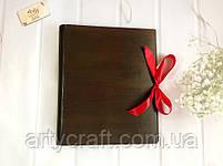 Деревянная обложка для фотоальбома без гравировки (А4 формат) (красное дерево), фото 2