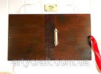 Деревянная обложка для фотоальбома без гравировки (А4 формат) (красное дерево), фото 4