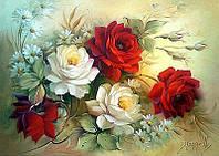40х30 см алмазная мозаика КОМПОЗИЦИЯ вышивка картина мозаїка діамантова вишивка квіти букет 40 х 30