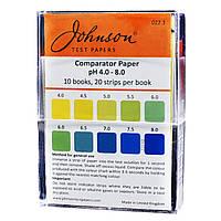 Індикаторні смужки з підвищеною роздільною здатністю pH 4.0–8.0 JTP Comparator Paper pH