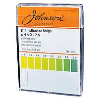 Індикаторні смужки на pH 4.0–7.5 JTP pH Indicator Strips