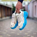 Женские кроссовки Balenciaga Triple S Blue Ocean / Баленсиага, фото 2