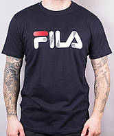"Футболка мужская коттоновая ""Fila"" размер норма 46-52, цвет уточняйте при заказе, фото 1"