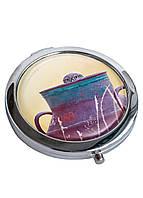 Зеркальце косметическое DevayS Maker DM 01 D 7 см Сова в кувшине Разноцветное 22-08-455, КОД: 1238913