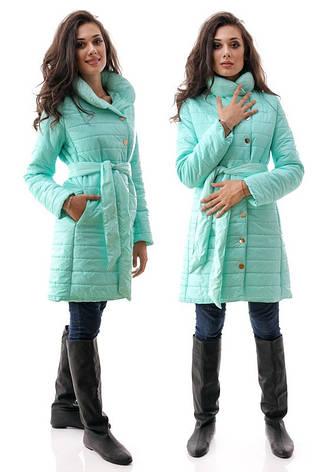 Женское пальто с поясом, фото 2
