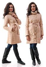 Женское пальто с поясом, фото 3