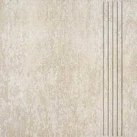 Плитка керамогранит TRAVERTIN DCA 35030 300х300 мм ступень слон кость Чешской фабрики RAKO