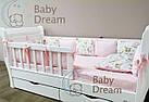 Комплект элитного постельного подросткового белья с бортиками (подушечками) для девочки от 3 лет, фото 6
