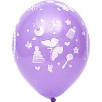 """Латексные шары Belbal пастель Спасибо за внучку 14"""" 36 см, 5 шт"""