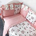 Комплект элитного постельного подросткового белья с бортиками (подушечками) для девочки от 3 лет, фото 4