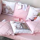 Комплект элитного постельного подросткового белья с бортиками (подушечками) для девочки от 3 лет, фото 5