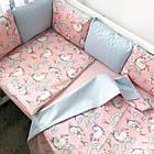 Комплект элитного постельного подросткового белья с бортиками (подушечками) для девочки от 3 лет, фото 9