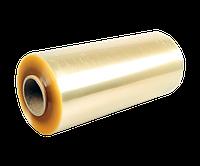 ПВХ пленка 450мм,1100м,9мкм пищевая стрейч желтого цвета (дышащий) для упаковки продуктов, блюд. Стретч 6 кг