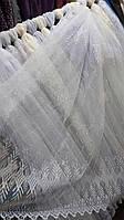 Тюль фатин геометрия, высота 1.6 (белый)