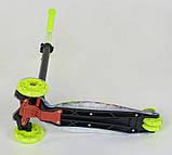 Самокат триколісний для дівчинки і хлопчика Best Scooter Максі 1342. Самокат з підсвічуванням коліс, фото 4