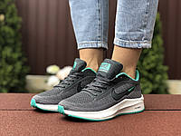 Женские кроссовки Nike Flyknit Lunar 3 (серо-белые с мятным) 9393