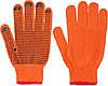 Перчатки WERK, оранжевые, черная точка ПВХ , р.10,  WE2105