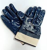 Перчатки WERK, нитриловое покрытие синие, краги, р.10,  WE2113