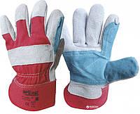 Перчатки WERK, комбинированные кожа+ткань, краги, р.10,5,  WE2130