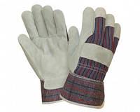 Перчатки WERK, комбинированные кожа+ткань, краги, р.10,5,  WE2114