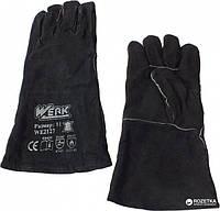 Перчатки WERK, замшевые черные, краги, р.11,  WE2127