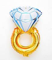 Мини-шар фольгированный SHOW Кольцо золотое с бриллиантом 23,5*48 см