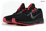 Чоловічі кросівки Nike Running (чорно-червоні) KS 1465, фото 2
