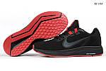 Чоловічі кросівки Nike Running (чорно-червоні) KS 1465, фото 3
