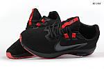 Чоловічі кросівки Nike Running (чорно-червоні) KS 1465, фото 5