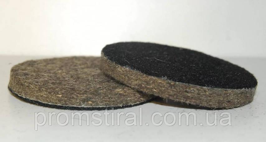 Войлочный круг на липучке d 100 мм