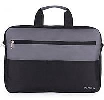 """Сумка для ноутбука 15,6"""" VINGA NB177GB Black / Grey (NB177GB)"""