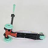 Самокат триколісний для дівчинки Best Scooter Максі 1343. Самокат з підсвічуванням коліс, фото 4