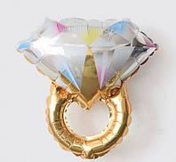 Мини-шар фольгированный SHOW Кольцо золотое с бриллиантом 31*44 см