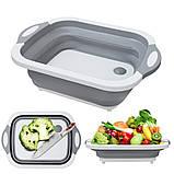 Універсальна обробна дошка 2 в 1 для миття овочів.Складана дошка-трансформер,дошка-миска,chopper, фото 5