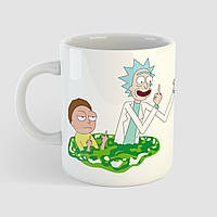 Кружка с принтом Рик и Морти v6. Rick and Morty. Чашка с фото, фото 1