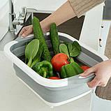 Універсальна обробна дошка 2 в 1 для миття овочів.Складана дошка-трансформер,дошка-миска,chopper, фото 8